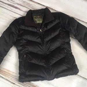 Eddie Bauer Goose Down Puffer Coat Black Small